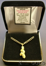 Gold Nugget Necklace 2940J