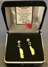 Gold Nugget Earrings 2943J